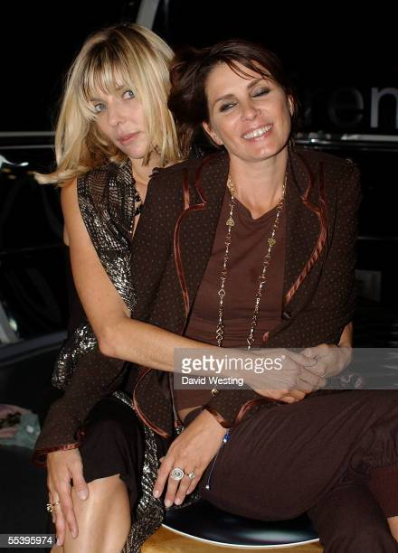 Jemima French and Sadie Frost promote their label FrostFrench in a pod at the VH1 London Fashion Showcase reception displaying the best of British...