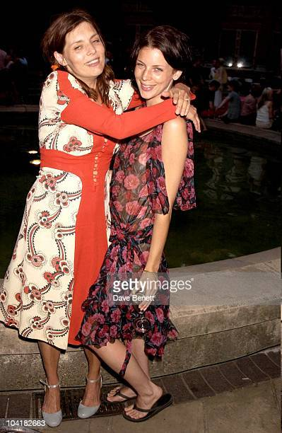 Jemima French With Liberty Ross The Ossie Clark Retrospective At The Victoria Albert Museum In London