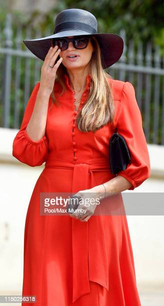 Jemima Goldsmith attends the wedding of Lady Gabriella Windsor and Thomas Kingston at St George's Chapel on May 18 2019 in Windsor England
