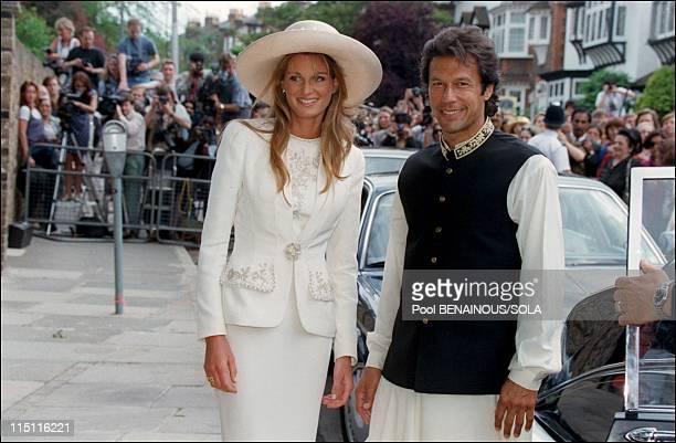 Jemima Goldsmith Imran Khan's wedding in London United Kingdom on June 20 1995