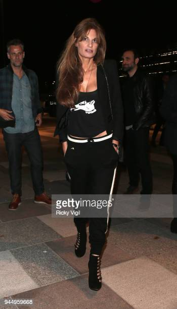 Jemima Goldsmith seen attending Soho House White City launch party on April 11 2018 in London England