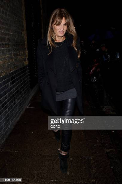 Jemima Goldsmith seen leaving the Chiltern Firehouse on December 20 2019 in London England