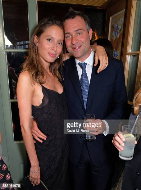 Jemima Jones and Ben Goldsmith attend the Leuser Ecosystem Action Fund hosted by Ben Goldsmith and Sarah Woodhead at 5 Hertford Street in...