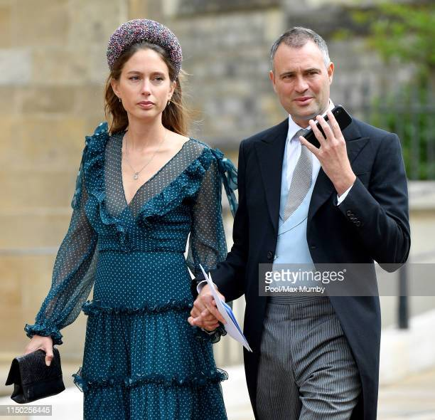Jemima Jones and Ben Goldsmith attend the wedding of Lady Gabriella Windsor and Thomas Kingston at St George's Chapel on May 18 2019 in Windsor...
