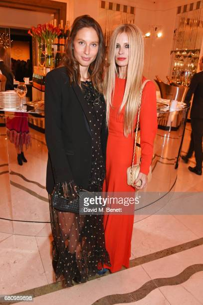 Jemima Jones and Laura Bailey attend the Veuve Clicquot Business Woman Awards at Claridge's Hotel on May 9 2017 in London England