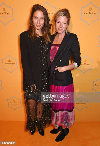 Jemima Jones and Lucy Carr Ellison attend the Veuve Clicquot Business Woman Awards at Claridge's Hotel on May 9 2017 in London England
