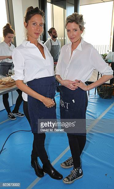 Jemima Jones and Lucy CarrEllison at The London Television Centre VIP Launch Party on April 20 2016 in London England