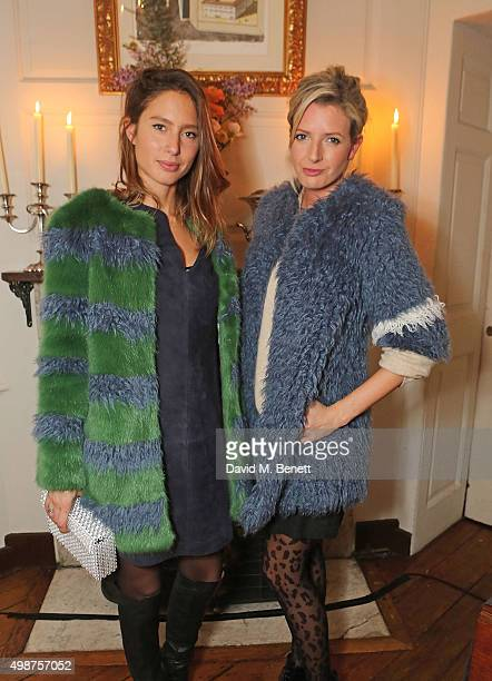 Jemima Jones and Lucy CarrEllison attend the Shrimps cocktail party at 68 Dean Street on November 25 2015 in London England