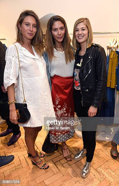 Jemima Jones Quentin Jones and Rosamund Pike attend Mih Jeans' 10th Anniversary Celebration at their popup concept store on Upper James Street on May...