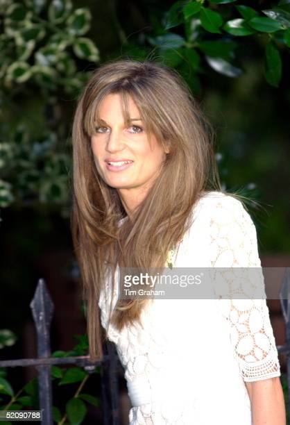 Jemima Kahn At A Celebrity Party Hosted By Broadcaster Sir David Frost In Chelsea She Has Recently Become Divorced From Her Husband Imran Kahn