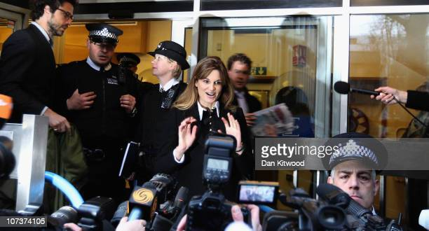 Jemima Kahn leaves the City of Westminster Magistrates Court after offering to stand as surety for Julian Assange on December 7 2010 in London...