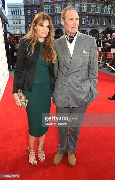 Jemima Khan and AA Gill attend the 'Nocturnal Animals' Headline Gala screening during the 60th BFI London Film Festival at Odeon Leicester Square on...