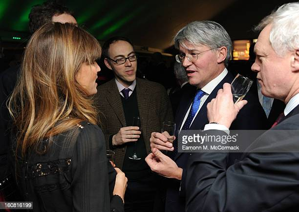 Jemima Khan and Andrew Mitchell attend The Political Book Awards 2013 at BFI IMAX on February 6 2013 in London England