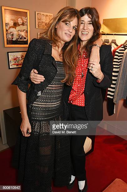 Jemima Khan and Bella Freud attend the Bella Freud store launch in Marylebone on December 9 2015 in London England