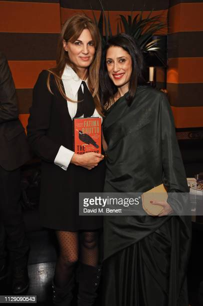 Jemima Khan and Fatima Bhutto attend the launch of The Runaways a new novel by Fatima Bhutto at Blakes Below on March 7 2019 in London England