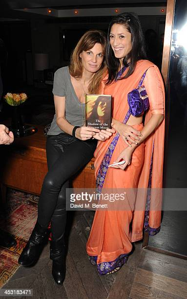 Jemima Khan and Fatima Bhutto attends a launch of Fatima Bhutto's debut novel The Shadow Of The Crescent Moon at the Belgraves Hotel on December 2...