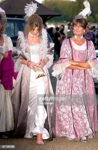 Jemima Khan And Her Mother Annabel Goldsmith Dressed In Costumes For A Ball Given By Prince And Princess Michael Of Kent For Their Children At...