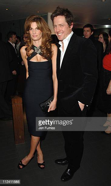 Jemima Khan and Hugh Grant during Music And Lyrics London Film Premiere After Party at Floridita in London Great Britain