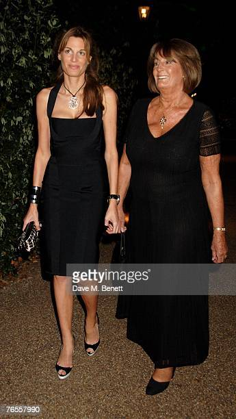 Jemima Khan and Lady Annabel Goldsmith attend the Royal Parks Foundation Summer Party hosted by CandyCandy at the Serpentine Lido on September 6 2007...