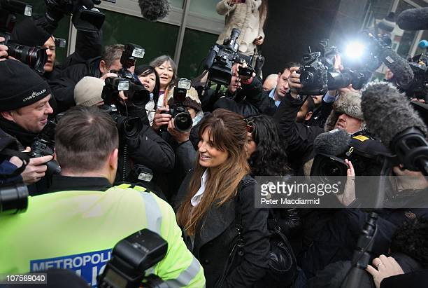 Jemima Khan arrives at Westminster Magistrates court as Wikileaks founder Julian Assange appeals for bail on December 14, 2010 in London, England. Mr...