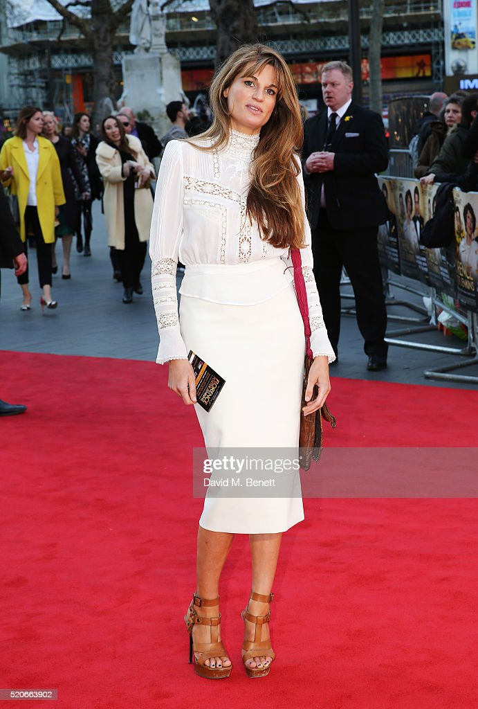 Jemima Khan arrives for the UK film premiere Of 'Florence Foster Jenkins' at Odeon Leicester Square on April 12, 2016 in London, England.