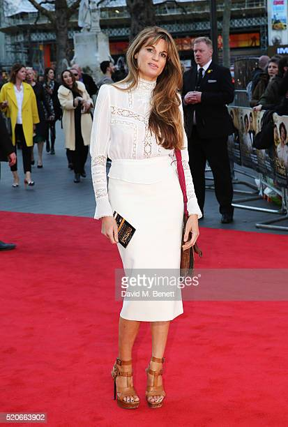 Jemima Khan arrives for the UK film premiere Of Florence Foster Jenkins at Odeon Leicester Square on April 12 2016 in London England