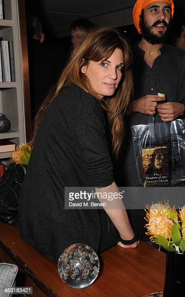 Jemima Khan attends a launch of Fatima Bhutto's debut novel The Shadow Of The Crescent Moon at the Belgraves Hotel on December 2 2013 in London...