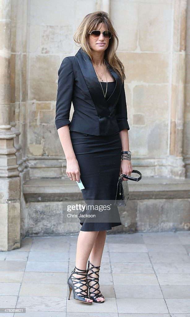 Jemima Khan attends a memorial service for Sir David Frost at Westminster Abbey on March 13, 2014 in London, England.
