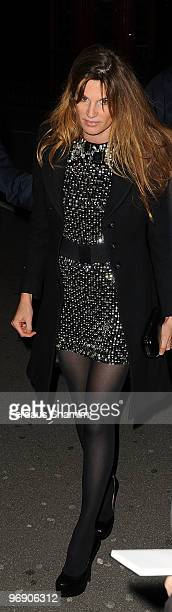 Jemima Khan attends Finch Partners annual preBAFTA party at Annabels on February 20 2010 in London England