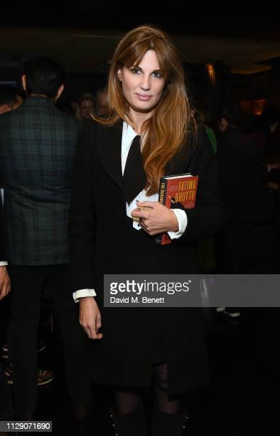 Jemima Khan attends the launch of The Runaways a new novel by Fatima Bhutto at Blakes Below on March 7 2019 in London England