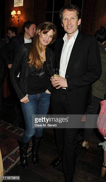 Jemima Khan attends the party for her guest editing at the 'New Statesman' with Jason Cowley at the Frontline Club in on April 9 2011 in London...