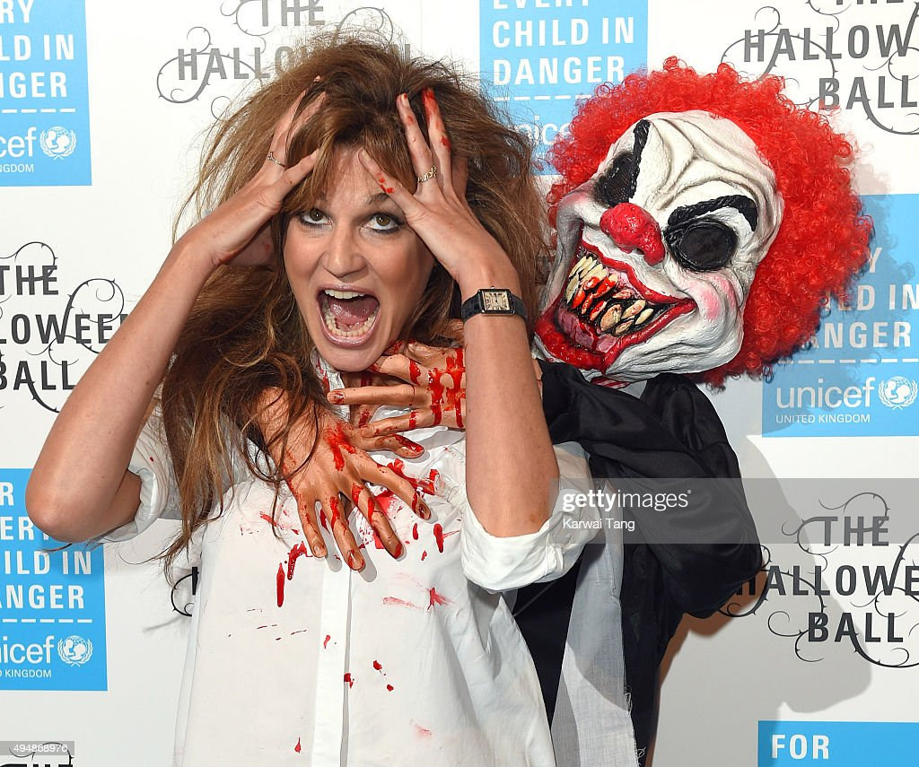 Jemima Khan attends the UNICEF Halloween Ball at One Mayfair on October 29, 2015 in London, England.