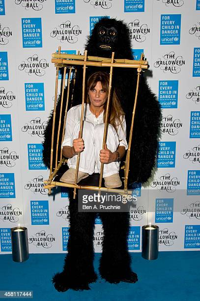 Jemima Khan attends the UNICEF Halloween Ball at One Mayfair on October 30 2014 in London England