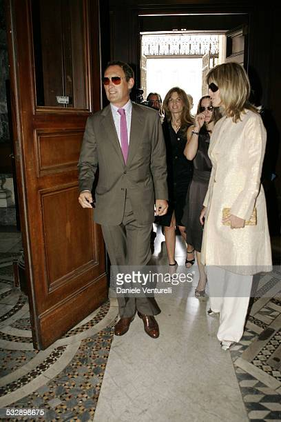 Jemima Khan during Elle Macpherson and Arpad Busson in Rome for the Baptism of their Son Aurelius cy Andrea at Basilica Santa Maria Maggiore in Roma...