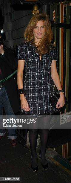 Jemima Khan during Finch Partners' PreBAFTA Party Arrivals at Annabel's in London Great Britain