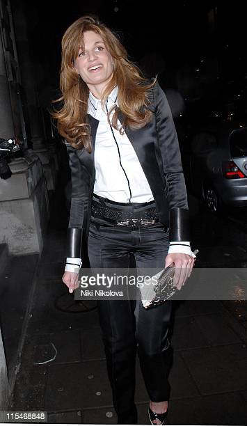 Jemima Khan during Tamara Mellon and Harvey Weinstein Party February 9 2007 at Cicconi's in London Great Britain