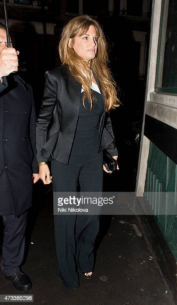 LONDON ENGLAND May 14 Jemima Khan is seen arriving at the Ivy restaurant Soho on May 14 2015 in London England