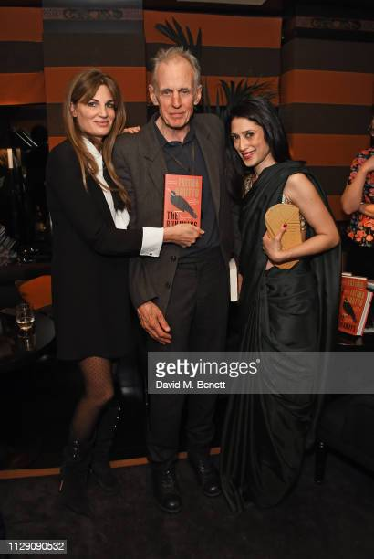 Jemima Khan James Fox and Fatima Bhutto attend the launch of The Runaways a new novel by Fatima Bhutto at Blakes Below on March 7 2019 in London...