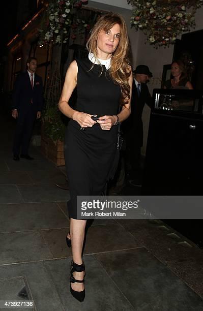Jemima Khan leaving Scotts restaurant on May 18 2015 in London England