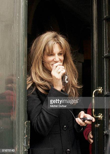 Jemima Khan steps out in Paris during Hugh's current promotional tour for Bridget Jones The Edge Of Reason on November 4 2004 in France