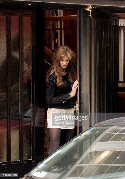 Jemima Khan steps out in Paris she was with Hugh Grant during his current promotional tour for Bridget Jones The Edge Of Reason on November 4 2004 in...