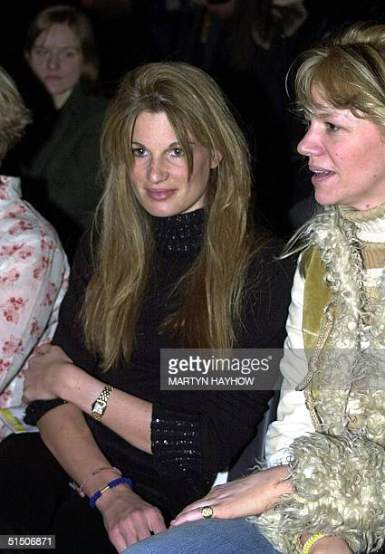 Jemima Khan, wife of Pakistani politician and former cricket player Imran Khan, who won the award as the best dressed celebrity at the London Fashion...