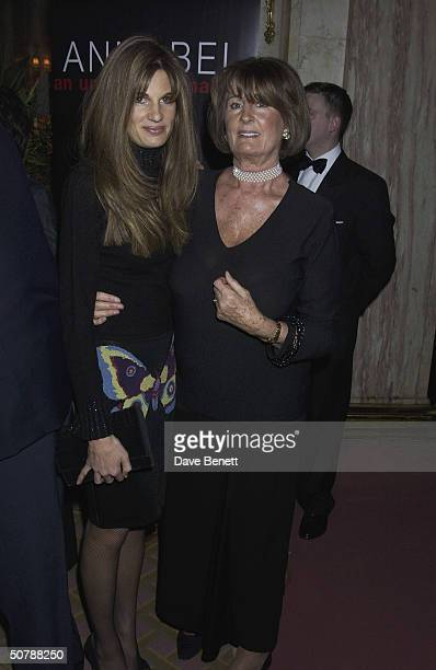 Jemima Khan with her mother Annabel Goldsmith at the book launch for her memoirs at the Ritz Hotel on 11th March 2004 in London