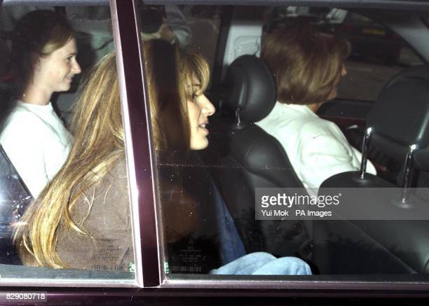 Jemima Khan with her sister Isabella Goldsmith and mother Lady Annabel Goldsmith leaving their house in Fulham west London British socialite Jemima...