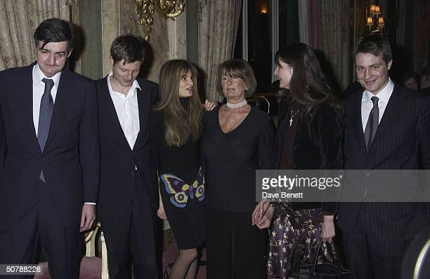 Jemima Khan with India Burley Robin Zac Ben and Annabel Goldsmith at the book launch for her memoirs at the Ritz Hotel on 11th March 2004 in London