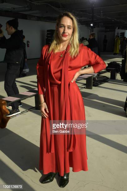 Jemima Kirk attends the Sies Marjan F/W 2020 Runway Show on February 09 2020 in New York City