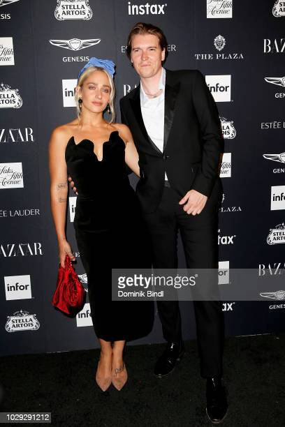 Jemima Kirke and Alex Cameron attend Harper's BAZAAR Celebrates 'ICONS By Carine Roitfeld' at The Plaza Hotel on September 7 2018 in New York City