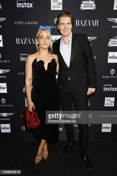 Jemima Kirke and Alex Cameron attends as Harper's BAZAAR Celebrates 'ICONS By Carine Roitfeld' at the Plaza Hotel on September 7 2018 in New York City