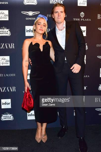 Jemima Kirke and Alex Cameron attends The Worldwide Editors Of Harper's Bazaar Celebrate ICONS by Carine Roitfeld presented by Infor Stella Artois...