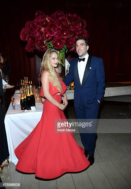Jemima Kirke and Zachary Quinto attend the 2015 CFDA Fashion Awards at Alice Tully Hall at Lincoln Center on June 1 2015 in New York City